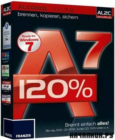 Alcohol 120% 7.0 ��������� ��� ������, ����������� � �������� ����� CD � DVD + Portable